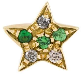 Carolina Bucci 18kt gold Superstellar' diamond star stud earring