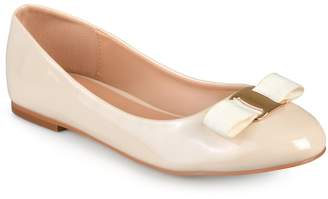 Journee Collection Kim Women's Glossy Ballet Flats $49.99 thestylecure.com