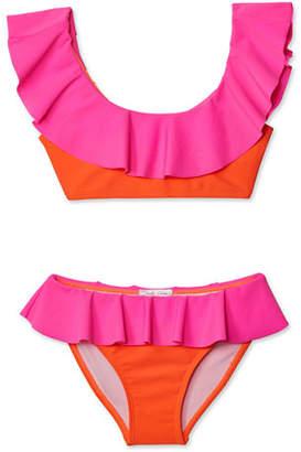 Stella Cove Girls' Neon Bikini Two-Piece Swim Set, 2-14