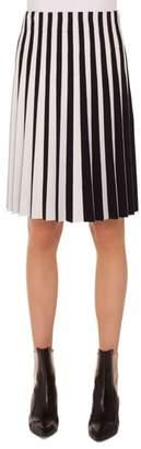Akris Punto Stripe Pleat Skirt