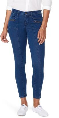 NYDJ Ami Hip Zips Seamed Stretch Skinny Jeans