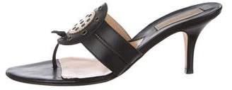 Michael Kors Leather Slide Sandals