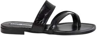 Manolo Blahnik Crocodile flip flops