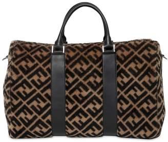 Fendi Ff Printed Fur Duffle Bag