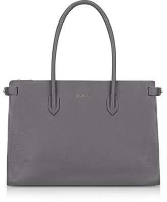 Furla Mercury Leather Pin Medium E/w Tote Bag
