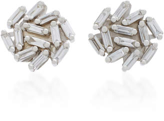 Suzanne Kalan 18K White Gold Diamond Earrings