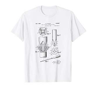 Phillips Head Screwdriver Patent T-Shirt
