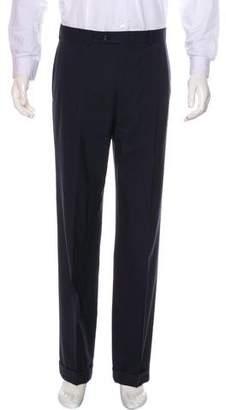 Burberry Flat Front Wool Pants