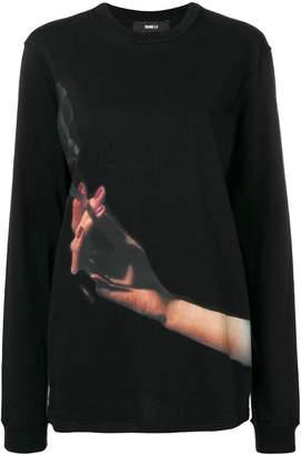 Yang Li printed cigarette sweatshirt