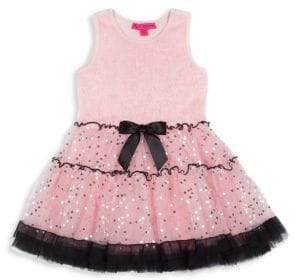Betsey Johnson Girl's Sequin Tulle Dress