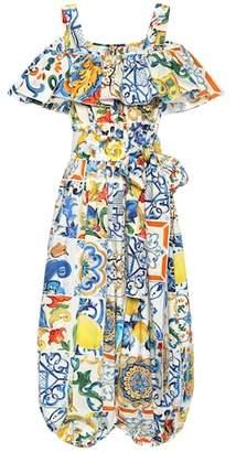 Dolce & Gabbana Majolica-print cotton jumpsuit