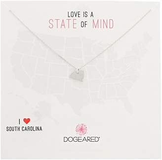 Dogeared State of Mind South Carolina Sterling Chain Necklace