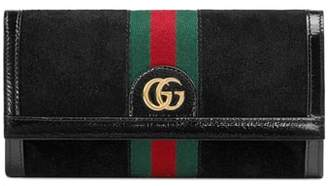 Gucci Ophidia Suede Continental Wallet