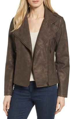 Women's Catherine Catherine Malandrino Faux Leather Moto Jacket