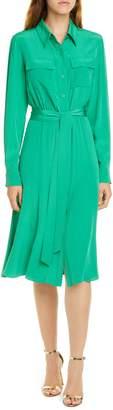 Diane von Furstenberg Antoinette Long Sleeve Silk Shirtdress