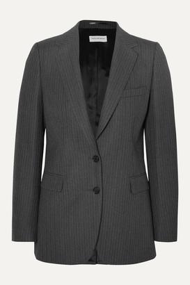 Dries Van Noten Blest Pinstriped Wool Blazer - Dark gray