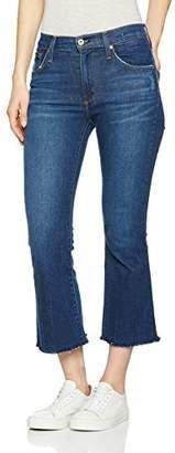 James Jeans Women's Kiki Frayed Hem Ankle Flare in