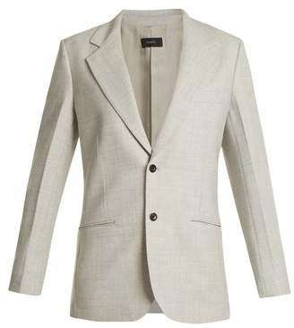 Joseph Grimaud Single Breasted Blazer - Womens - Light Grey