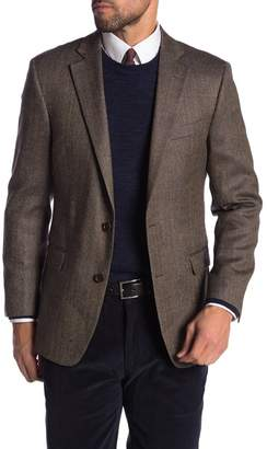 Brooks Brothers Brown Windowpane Two Button Notch Lapel Wool Regent Fit Blazer