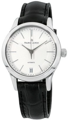 Maurice Lacroix Les Classiques Date Silver Dial Leather Strap Ladies Watch LC6016SS0011301