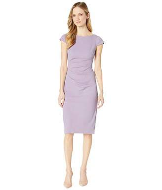 Adrianna Papell Rio Knit Tucked Sheath Dress