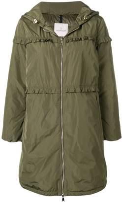 Moncler ruffle trim padded coat