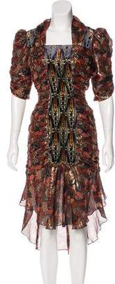 Anna Sui Printed Silk-Blend Dress