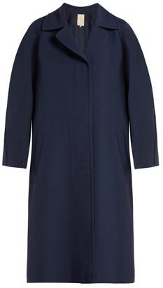 Roksanda Kamri Silk Coat - Womens - Navy