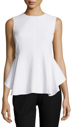 Theory Kalsing Admiral Crepe Peplum Top $245 thestylecure.com