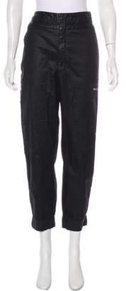 Helmut Lang Coated High-Rise Pants