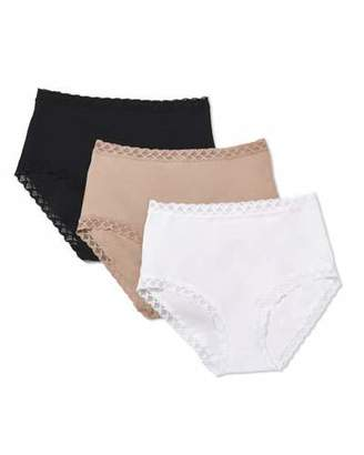 Natori Three-Pack Bliss Full-Coverage Underwear Briefs