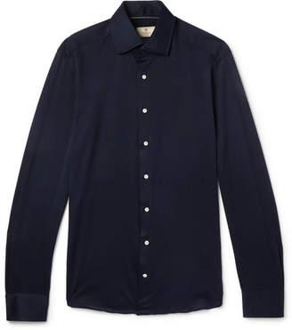 Hackett Slim-Fit Cutaway-Collar Cotton-Jersey Shirt