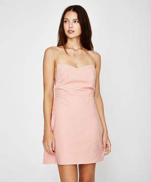 Alice In The Eve Maddie Backless Minidress Coral