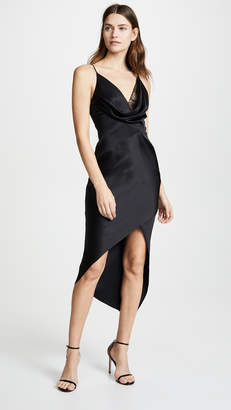 Cushnie Wraparound Dress with Front Cowl