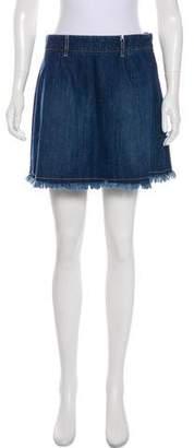 Each X Other Raw Hem Denim Mini Skirt w/ Tags