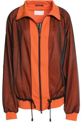 Maison Margiela Ribbed Organza Mesh And Jersey Jacket