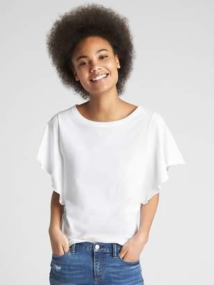 Gap Vintage Wash Flutter Sleeve T-Shirt