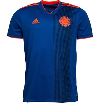 adidas Mens FCF Colombia Away Shirt Bold Blue/Solar Red