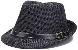 fa17942464e doublebulls hats C-Crown Trilby Panama Hat Men Boys Straw Summer Hat