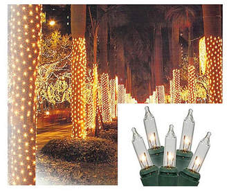 Asstd National Brand 2' X 8' Clear Twinkling Mini Christmas Net Style Tree Trunk Wrap Lights with Green Wire