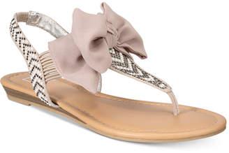 Material Girl Swan Flat Thong Sandals, Women Shoes