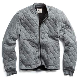 Todd Snyder + Champion Champion Quilted Bomber in Charcoal