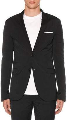 Neil Barrett Men's Super Skinny Long Travel Jacket
