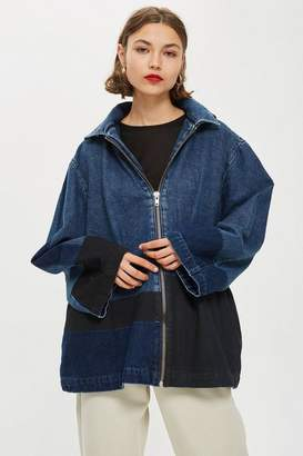 Topshop **Denim Hooded Jacket by Boutique