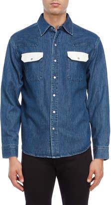 Calvin Klein Jeans Blue Denim Men s Shirts - ShopStyle 4b345669cd43