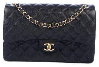 Chanel Classic Maxi Caviar Double Flap Handbag