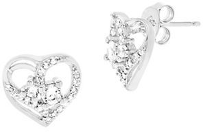 Lord & Taylor Heart Swirl Forever Together Cubic Zirconia & Sterling Silver Earrings $58 thestylecure.com