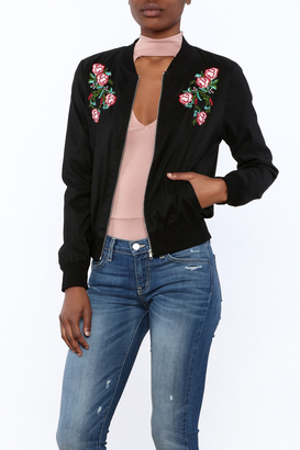 The Clothing Co Rose Embroidered Jacket $54 thestylecure.com