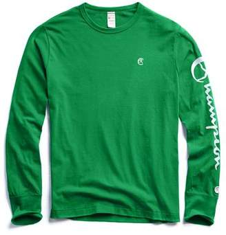 Todd Snyder + Champion Champion Long Sleeve Arm Graphic in Turf Green