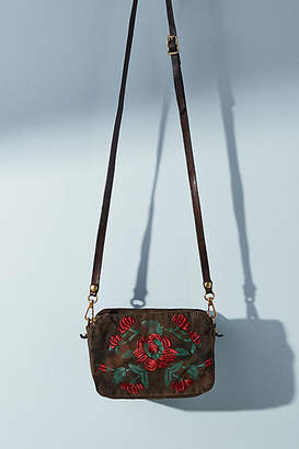 Campomaggi Floral-Embroidered Crossbody Bag
